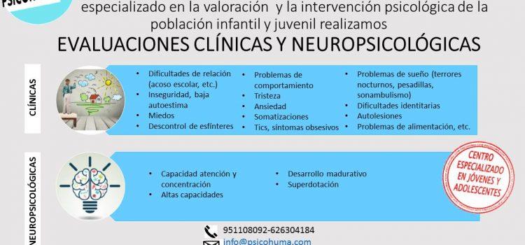 Evaluaciones clínicas y neuropsicológicas